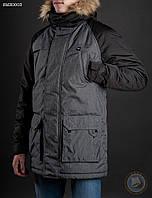 Зимняя куртка ( парка ) Staff - North melange black Art. SME0003 (тёмно-серый \ чёрный)