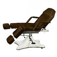 Педикюрно – косметологическая кресло-кушетка на гидравлическом подъемнике ZD-823A, цвет-шоколад