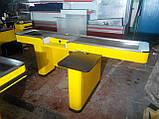 Кассовый бокс с узким накопителем и транспортной лентой б/у, кассовое место б/у, место для кассира, прилавок к, фото 2