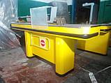 Кассовый бокс с узким накопителем и транспортной лентой б/у, кассовое место б/у, место для кассира, прилавок к, фото 4