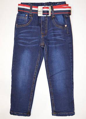 Детске подростковые джинсы на флисе 164