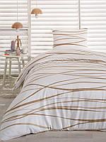 Сатиновое постельное белье Eponj Home Classic Afro крем полуторного размера