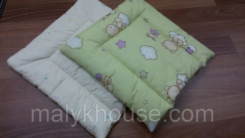 Детская подушка для новорожденного квадратная
