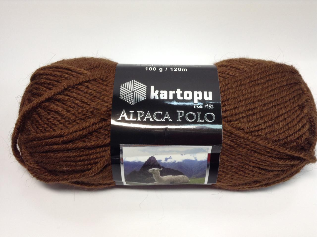 Пряжа alpaca polo - колір коричневий