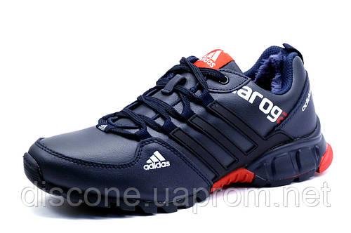 Зимние кроссовки Adidas DAROGA, мужские, на меху, темно-синие