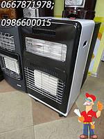 Переносной газовый инфракрасный керамический обогреватель с вентилятором и доп. нагревом от електричества