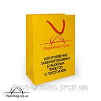 Бумажный пакет ламинированный 240*80*350 мм