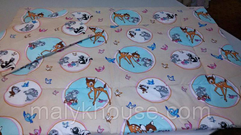 Одеяло и подушка для детей в кроватку