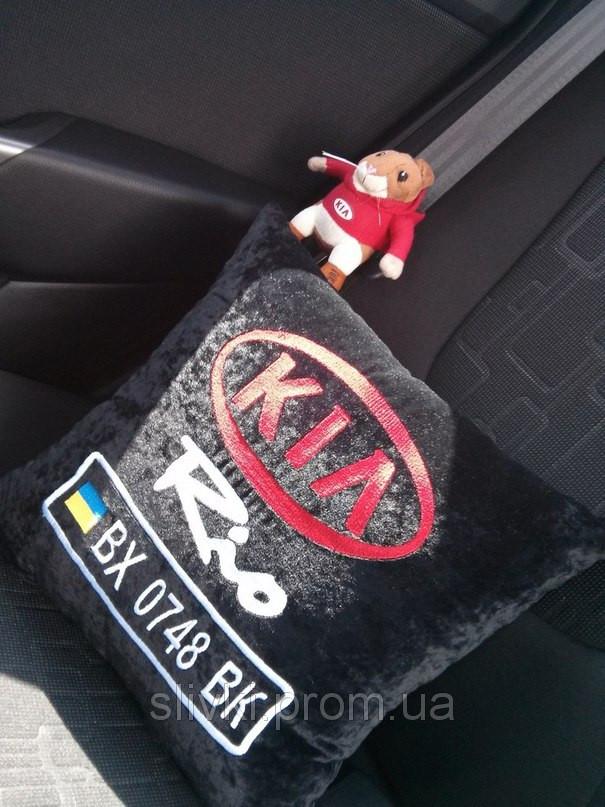 Автомобильная подушка с добавление номера