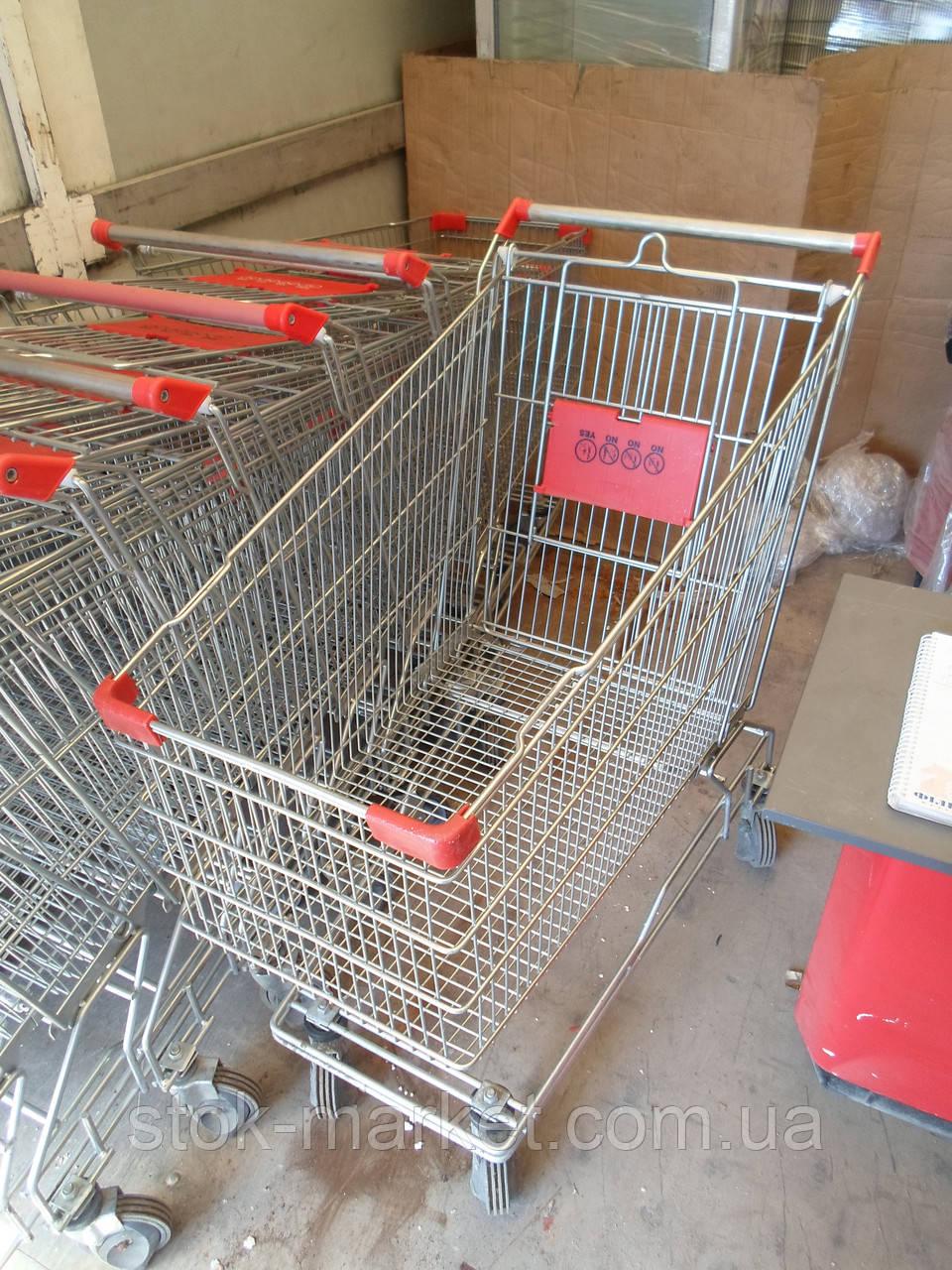 Тележки для супермаркетов 250 Л. б у, покупательские тележки б/у, тележки б/у, торговые тележки б у.