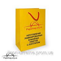 Бумажный пакет ламинированный 150*60*220 мм