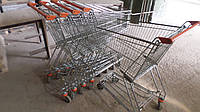 Торговые тележки б у, тележки для супермаркетов б у, тележки б/у, покупательские тележки б/у, тележки для поку