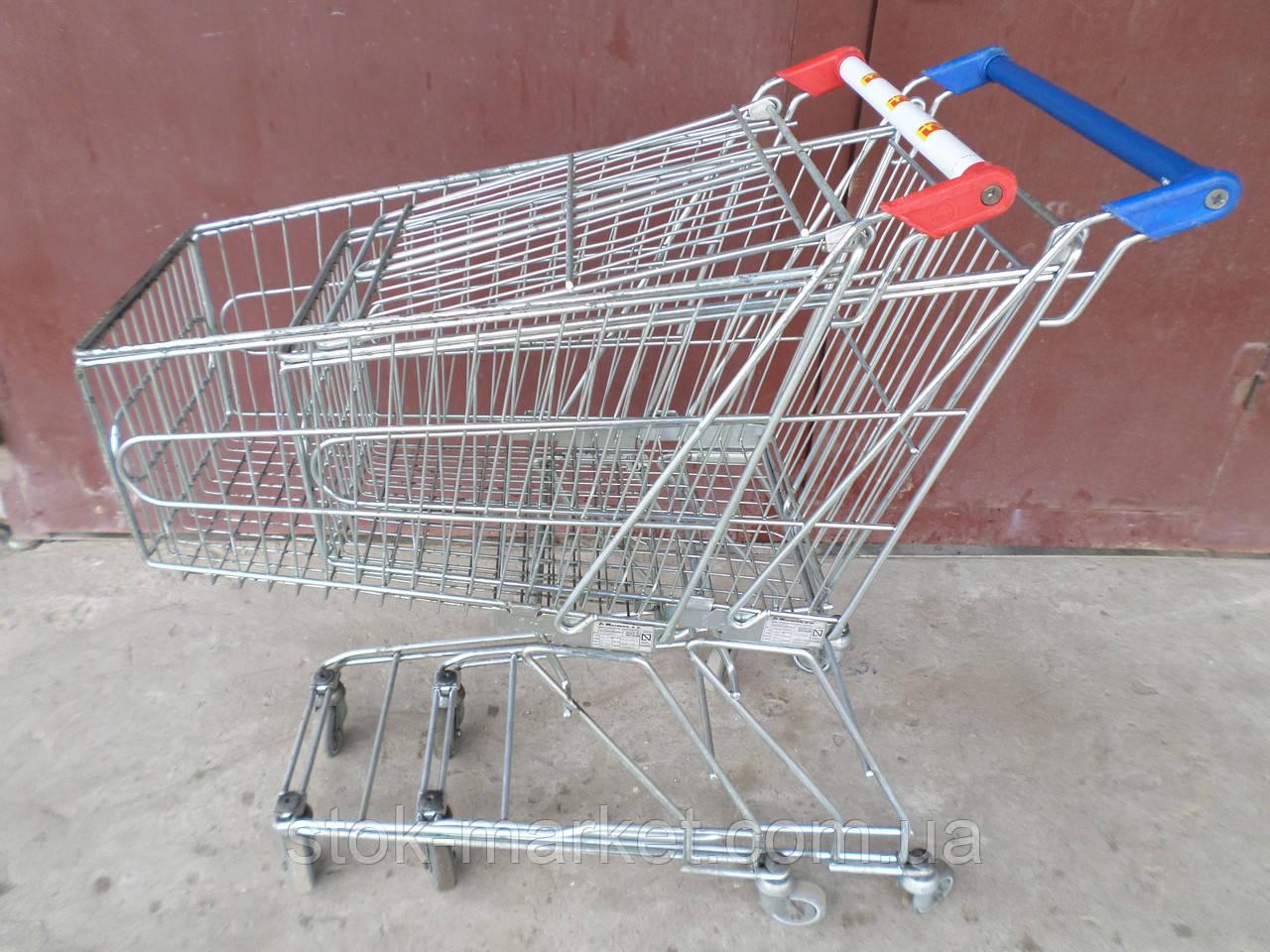 Покупательская тележка marsonz на 60 литров б/у, корзины б/у, торговые тележки б/у  marsonz, тележки б у, теле
