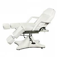 Педикюрно – косметологическая кресло-кушетка на гидравлическом подъемнике ZD-823A, цвет-белый