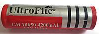 Аккумулятор UltroFire 18650 4200 mAh 3.7V, фото 1