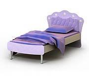 Кровать  +накладка на спинку Si-11-1+Si-11-1n детская мебель.