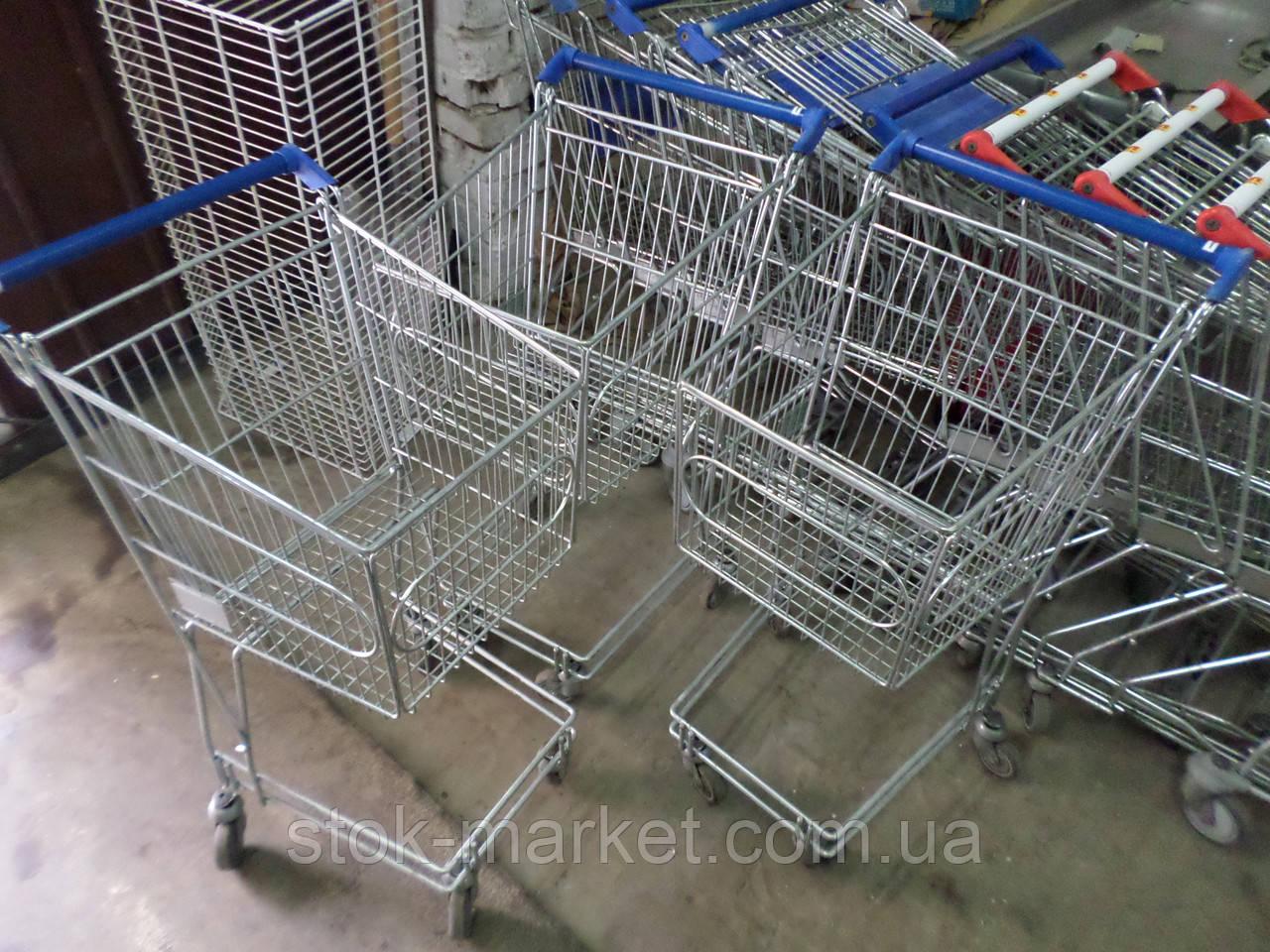 Тележки для самообслуживания 30,60,140 Л. б/у, Тележки для супермаркетов б.у, торговые тележки б/у, покупатель