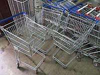 Тележки для самообслуживания 30,60,140 Л. б/у, Тележки для супермаркетов б.у, торговые тележки б/у, покупатель, фото 1