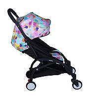 Прогулочная коляска YOYA Цветы мультиколор
