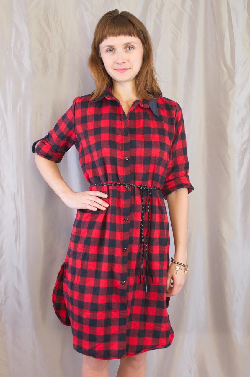 ea90c71769a Модная женская рубашка-платье в клетку. - Exclusive в Хмельницком