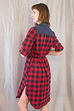 4f859fc7c74 Модная женская рубашка-платье в клетку.  продажа