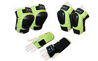 Защита для роликов детская ZELART METROPOLIS зеленая