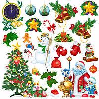 """Набор декоративных наклеек """"С Новым Годом!"""""""