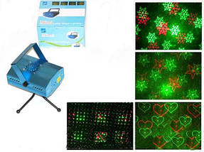 Лазерный проектор, стробоскоп, лазер шоу для дискотеки 4 эффекта, фото 2