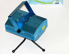Лазерний проектор, стробоскоп, лазер шоу для дискотеки 4 ефекту