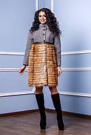 Модное пальто зимнее женское в 2х цветах П-976 и/м