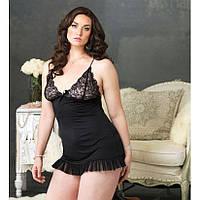 Сексуальное платье с кружевным лифом большого размера