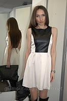 Платье Kensie с кожаными вставками (XS/S/M)