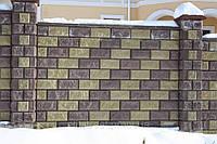 Вибропрессованный заборный блок размером 39х10х19см