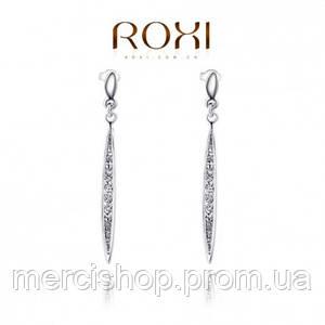 Висячие серьги-гвоздики из коллекции ювелирного дома ROXI