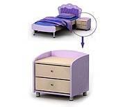 Тумба прикроватная Si-14 детская мебель.