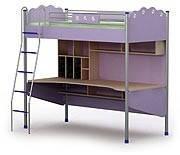 Кровать двухъярусная детская-чердак +стол Si-16-1 детская мебель.