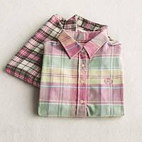 Рубашка женская в клетку NNT 881 Рубашки женские клетка