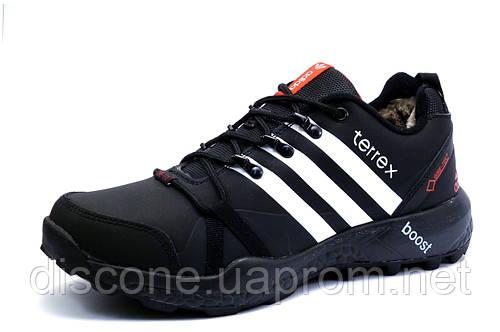 Зимние кроссовки мужские Adidas Terrex, на меху, черные