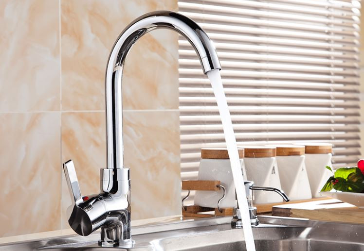 Кран змішувач для кухні миття раковини однорукий