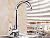Кран змішувач для кухні миття раковини однорукий, фото 2