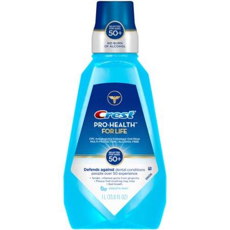 Crest Mouthwash Pro-Health For Life + 50 Smooth Mint - Ополаскиватель для полости рта, 1000 мл
