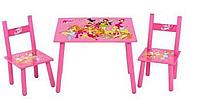 Детский деревянный столик со стульчиками Winx М 1508 АВ