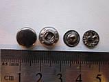 Кнопка альфа 10 мм тёмный никель, фото 2