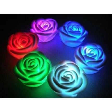 Светильник хамелеон/ ночник с цветной подсветкой Роза.
