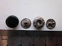 Кнопка альфа 10 мм чёрный/тёмный никель