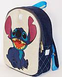 Джинсовий рюкзак Стіч, фото 2