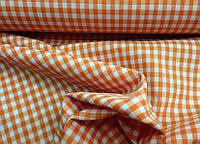 Декоративная ткань Ibiza клетка (оранжевый)