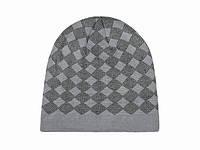 Вязаная мужская шапка с рисунком