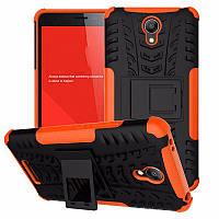 Чехол Xiaomi Redmi Note 2 противоударный бампер оранжевый