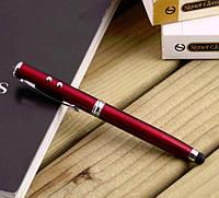 Шариковая ручка + светодиодный фонарик + Стилус для Iphone / Ipad/смартфон + лазер 4в1(с батарейками, фото 1